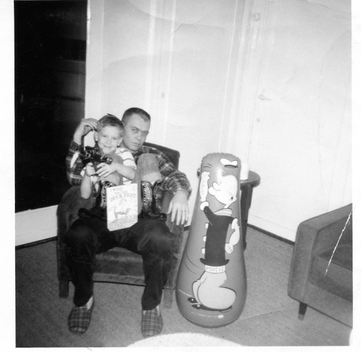 Willy and Dad Christmas in Holland 1966