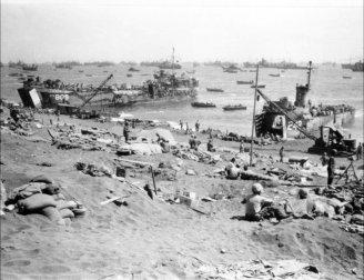 LST-809 at Iwo Jima